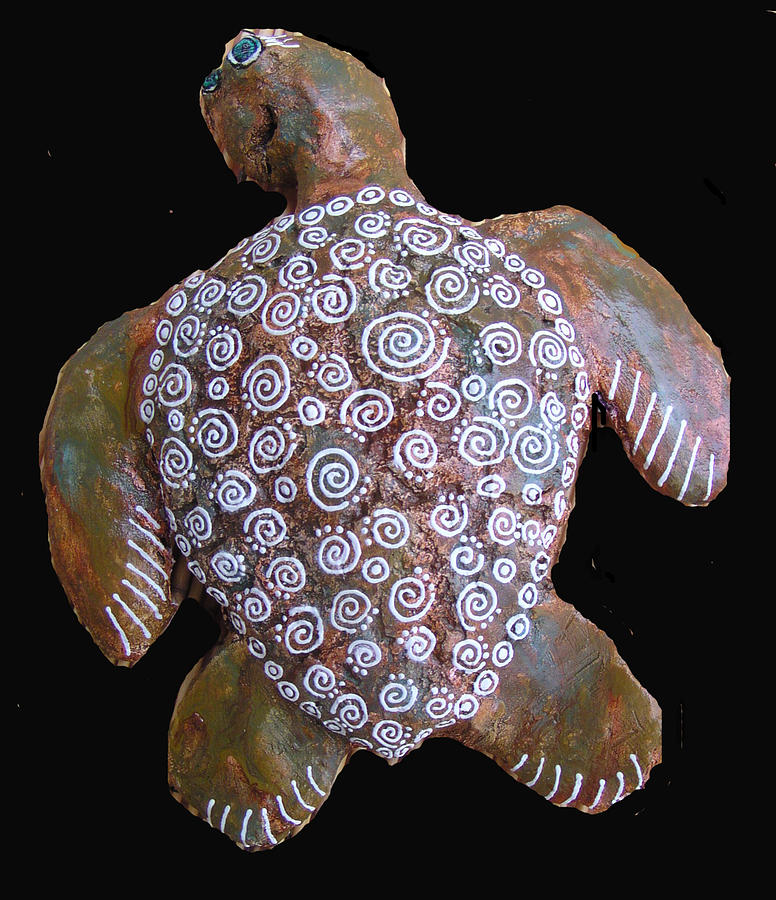 Toni The Turtle Sculpture  - Toni The Turtle Fine Art Print