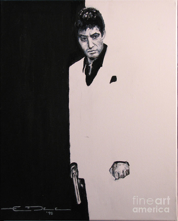 Tony Montana - Scarface Painting  - Tony Montana - Scarface Fine Art Print