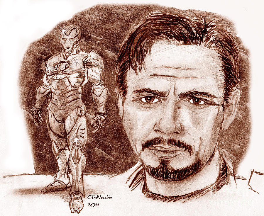 Tony Stark Drawing