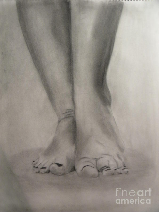 Tootsies Drawing  - Tootsies Fine Art Print