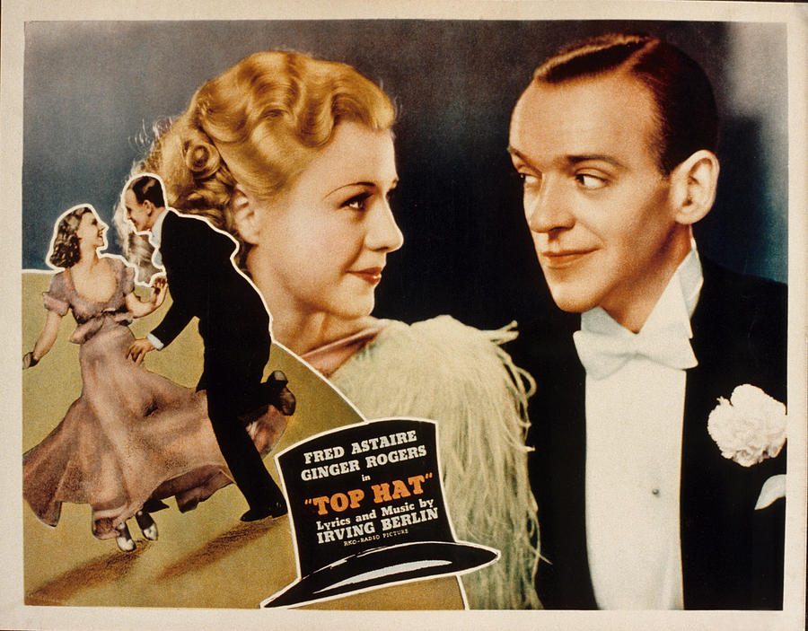 Top Hat, Lobbycard, Ginger Rogers, Fred Photograph  - Top Hat, Lobbycard, Ginger Rogers, Fred Fine Art Print