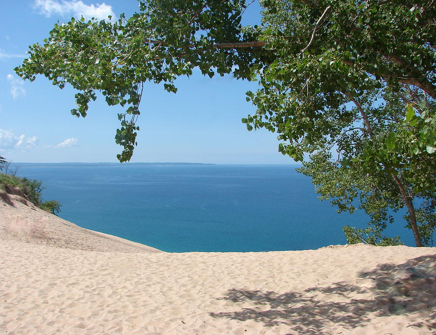 Top Of The Dune At Sleeping Bear Photograph  - Top Of The Dune At Sleeping Bear Fine Art Print