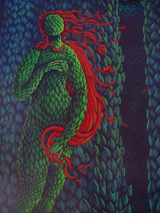Topiary Venus Scene Painting