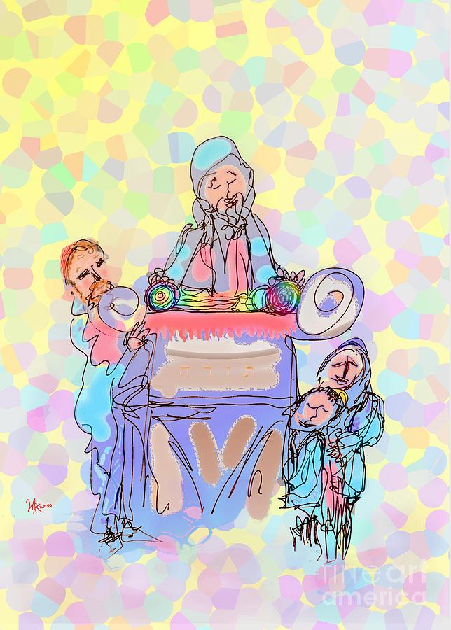 Torah Reading Painting