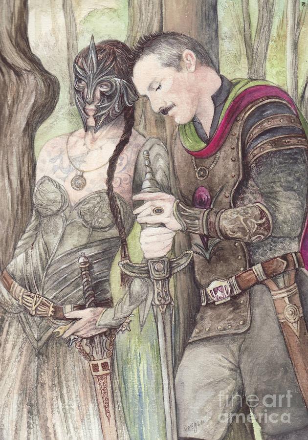 Torgil And Dulcamara Warrior Painting