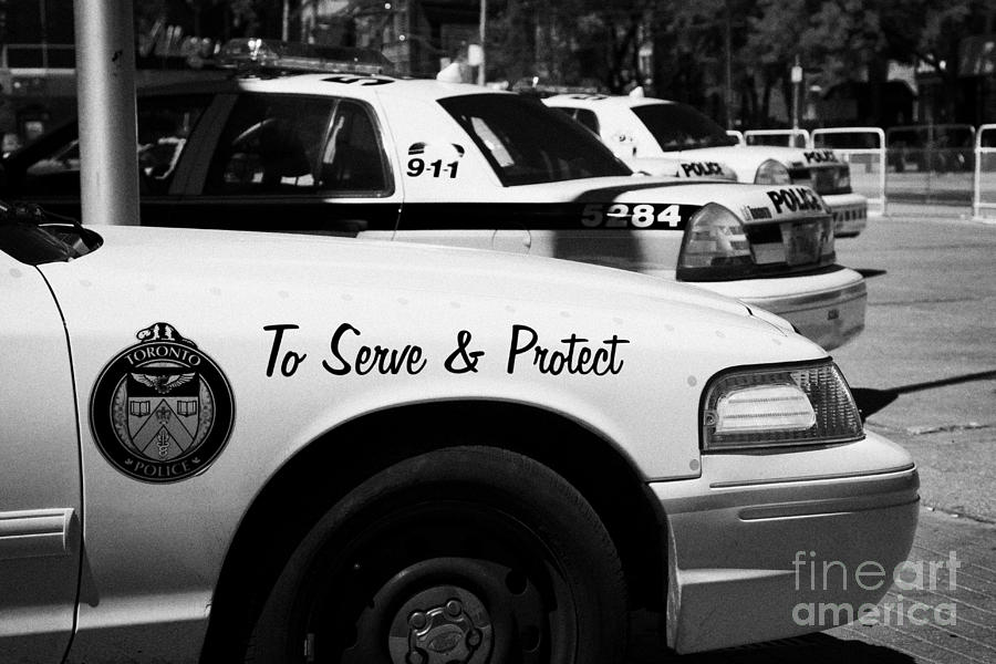 Toronto Police Squad Cars Outside Police Station In Downtown Toronto Ontario Canada Photograph