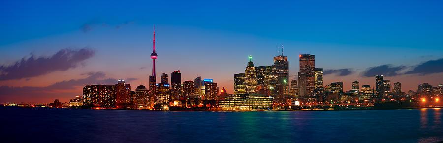 Toronto Skyline Panorama Photograph