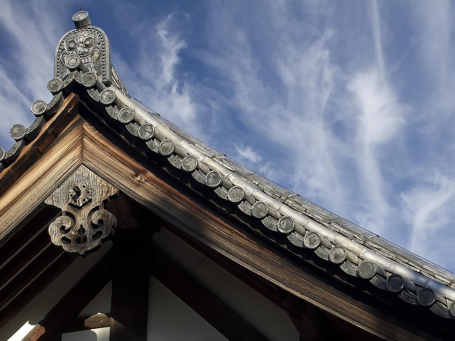 Japan Photograph - Toshodai-ji Temple Roof Gargoyle - Nara Japan by Daniel Hagerman