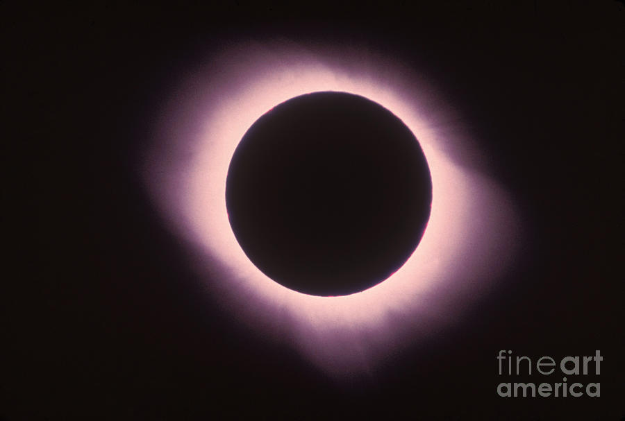 Total Solar Eclipse With Corona Photograph