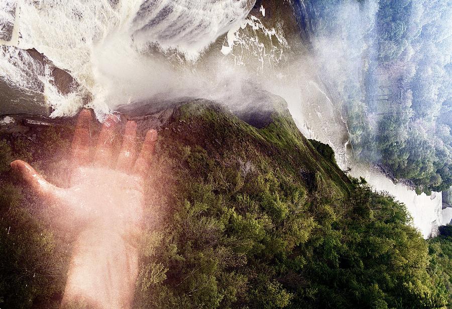 Touching The Falls Photograph