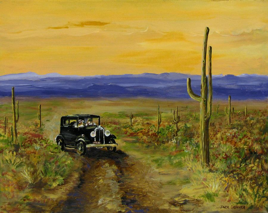 Touring Arizona Painting  - Touring Arizona Fine Art Print