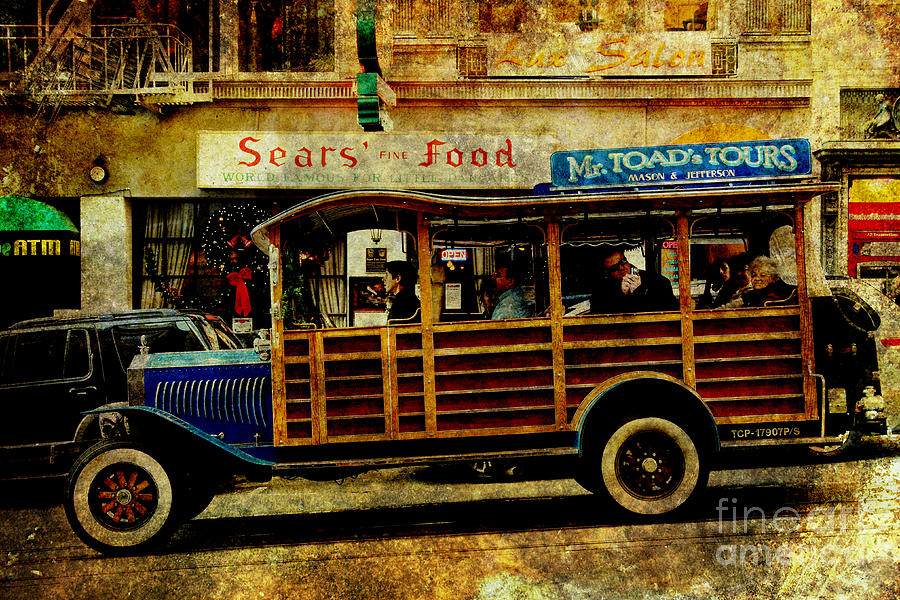 Touring The Streets Of San Francisco . Texture Photograph