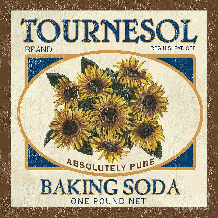 Sunflower Painting - Tournesol Baking Soda by Debbie DeWitt