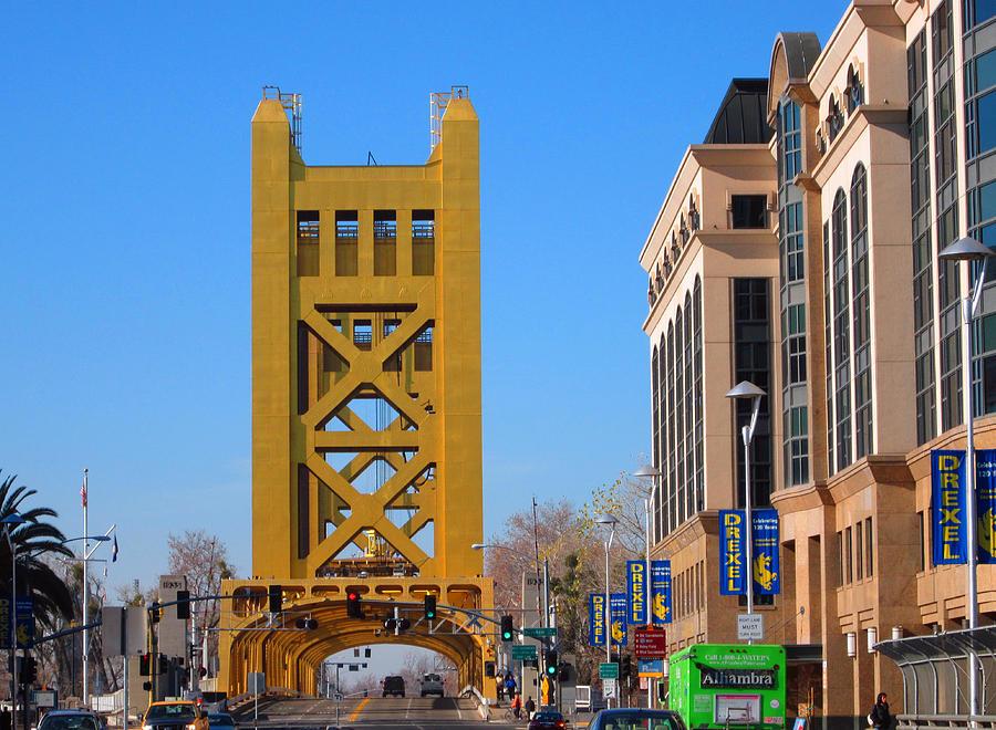 Old Town Sacramento Photograph - Tower Bridge 4 by Barry Jones