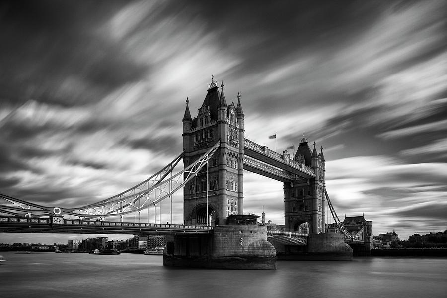 Tower Bridge, River Thames, London, England, Uk Photograph