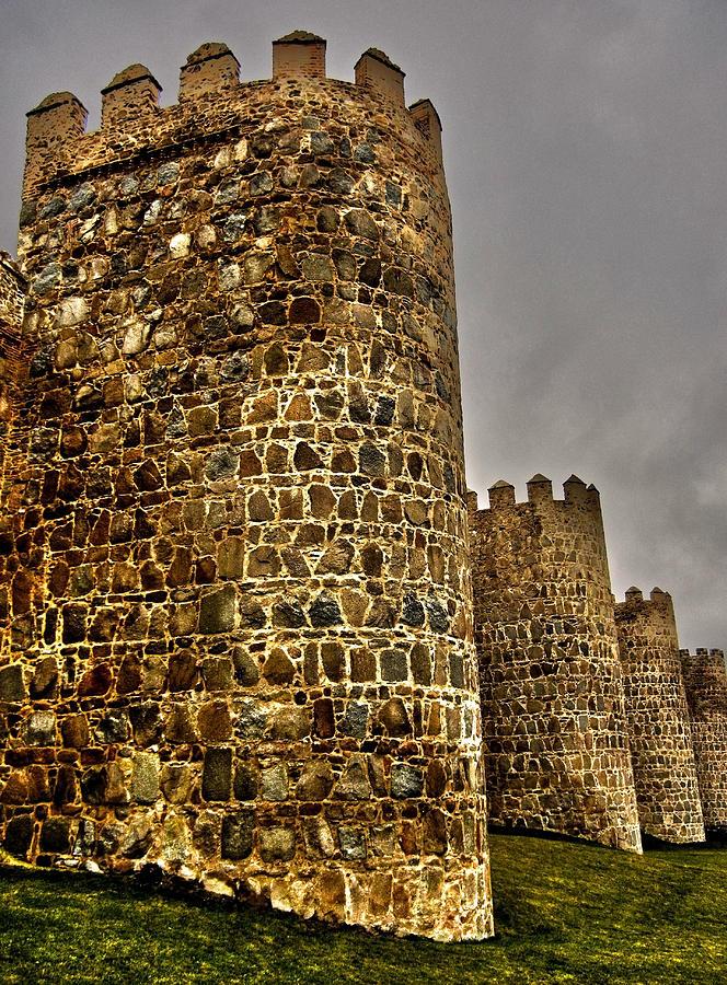 Towers Of Avila - Spain Photograph