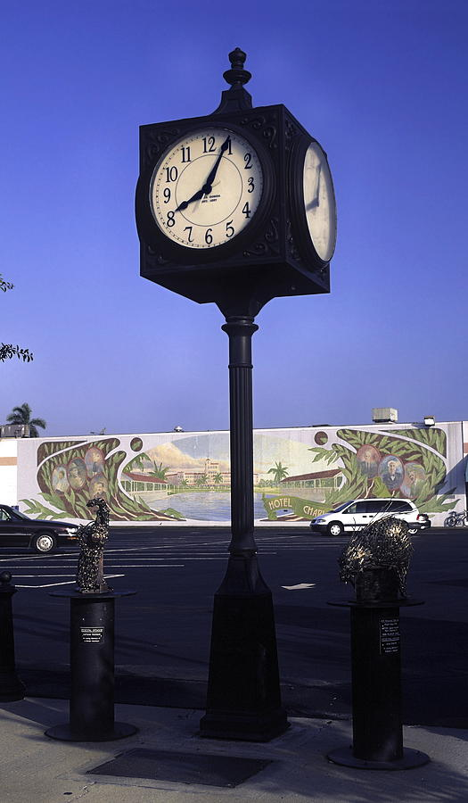 Town Clock Photograph - Town Clock by Sally Weigand