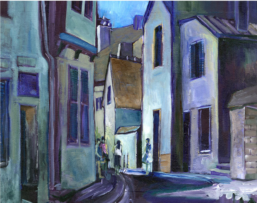 Town In Italy Painting