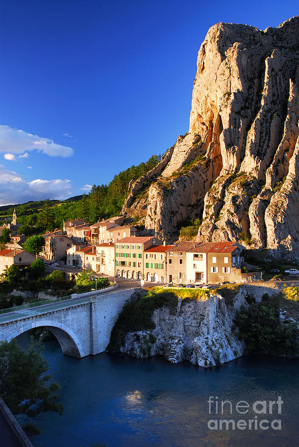 Town Of Sisteron In Provence France Photograph  - Town Of Sisteron In Provence France Fine Art Print