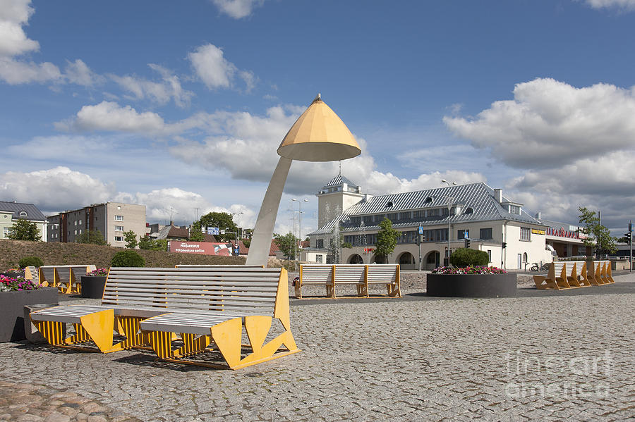 Town Square In Rakvere Photograph  - Town Square In Rakvere Fine Art Print