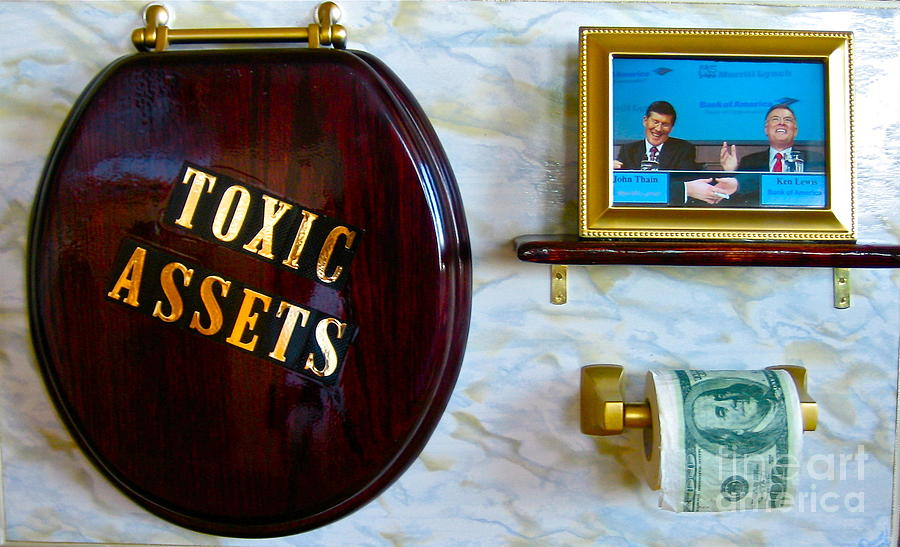 Business Painting - Toxic Assets by Dawn Graham
