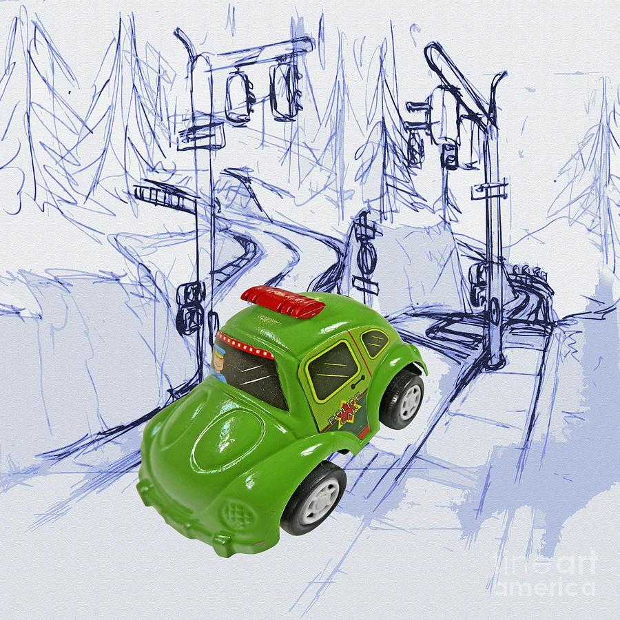 Toy Car Digital Art