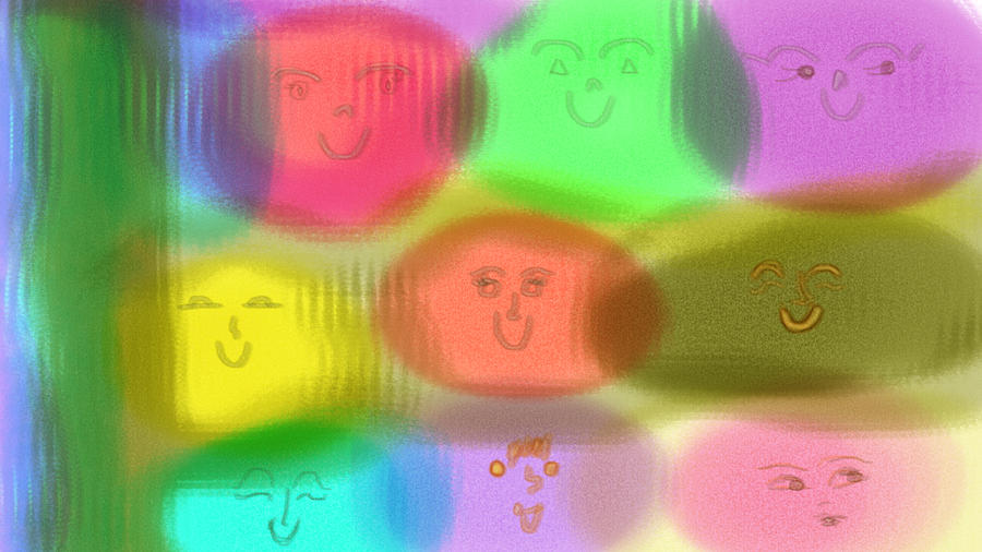 Toy Faces Digital Art