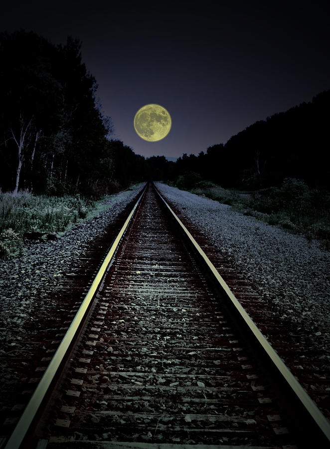 Track To The Moon Photograph  - Track To The Moon Fine Art Print