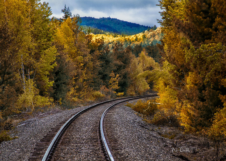 Tracks Through The Mountains  Photograph  - Tracks Through The Mountains  Fine Art Print