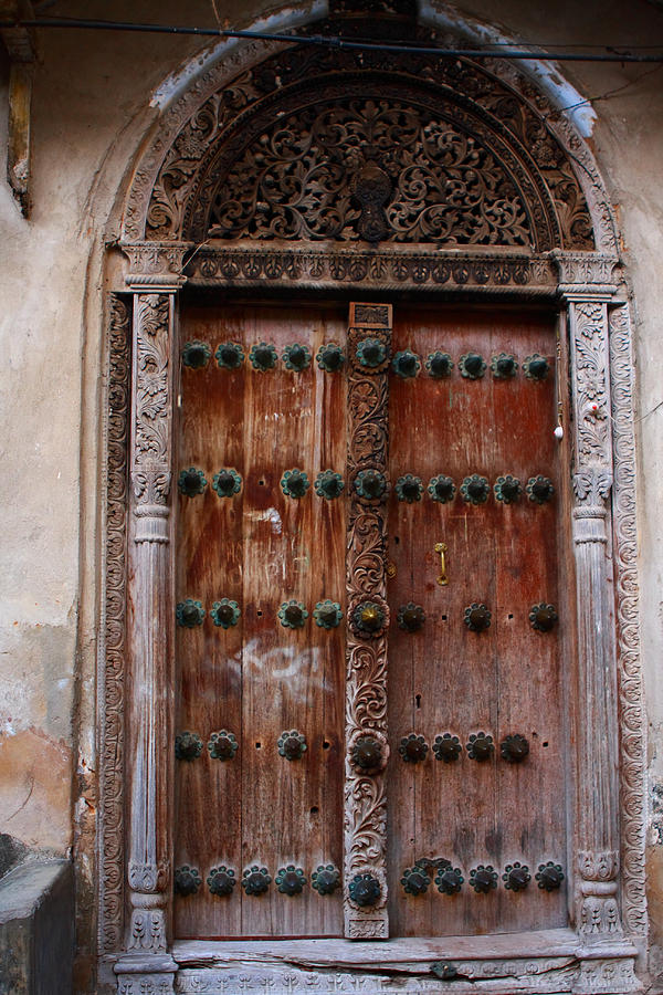 Traditional Carved Door Photograph
