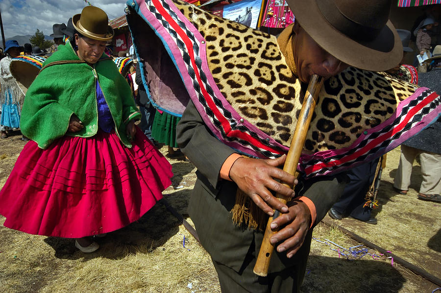 Traditional Dance Of The Bolivian Highlands. Photograph