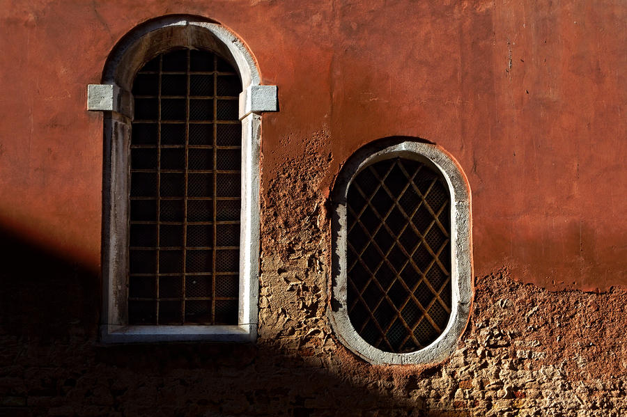 Traditional Venetian Windows Photograph