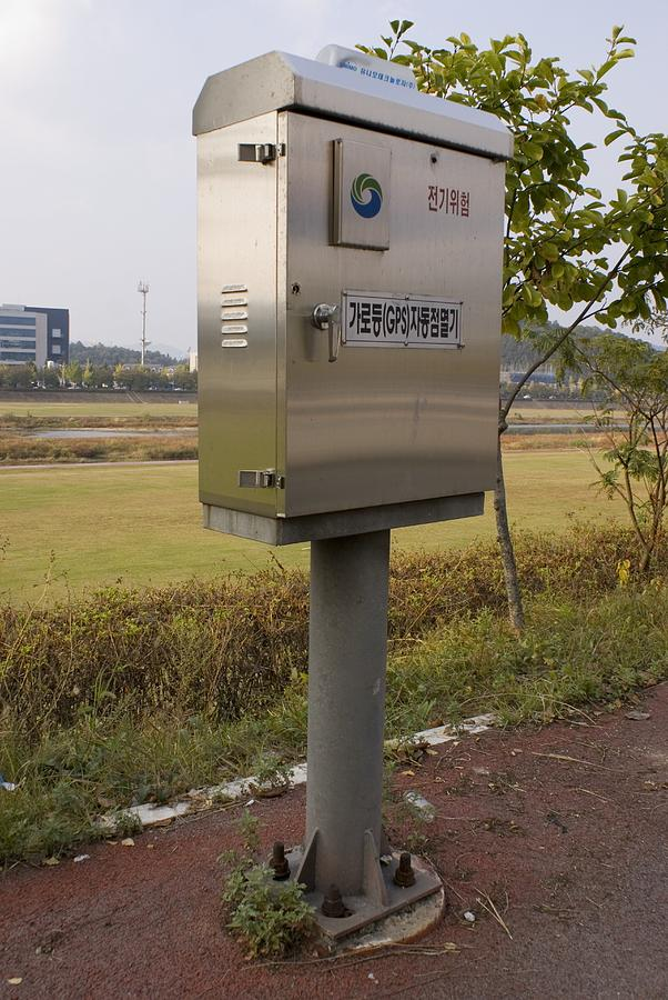 Daejeon Photograph - Traffic Control Cabinet With Gps by Mark Williamson