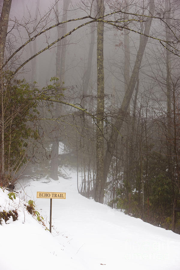 Trailhead Covered With Snow Photograph