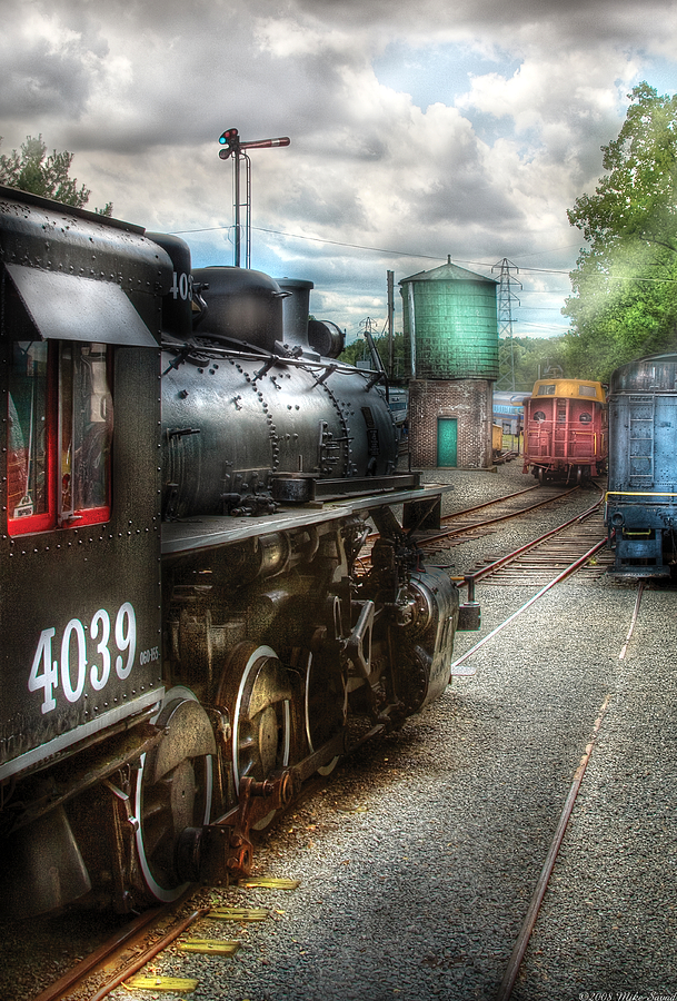 Train - Engine - 4039 - In The Train Yard  Photograph  - Train - Engine - 4039 - In The Train Yard  Fine Art Print
