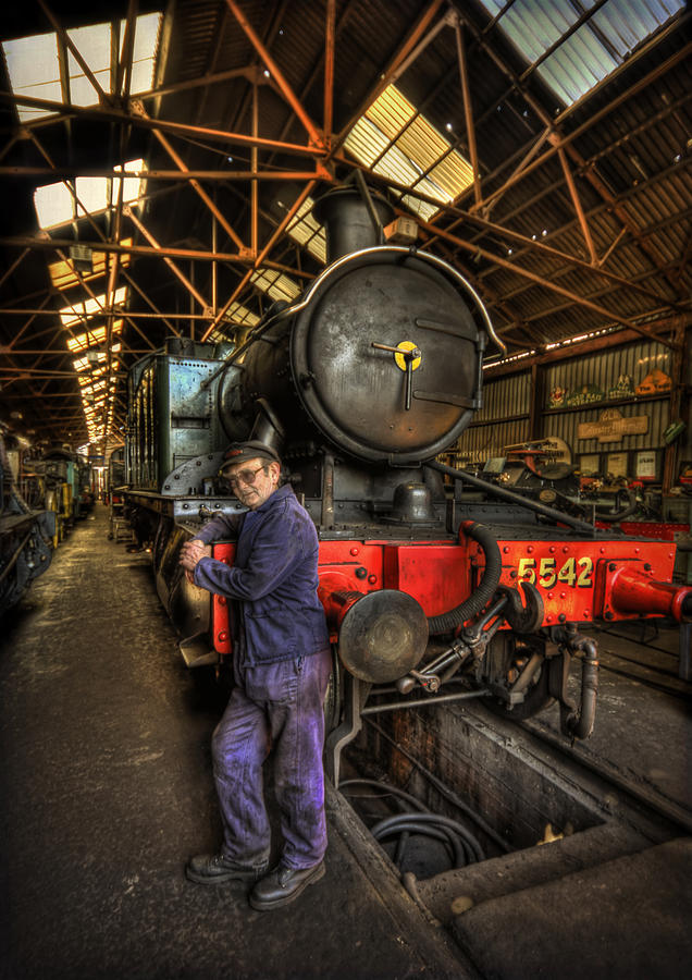 Repair Photograph - Train Of Thoughts by Evelina Kremsdorf