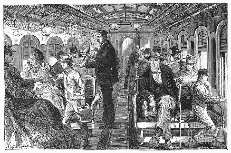 Train: Passenger Car, 1876 Photograph  - Train: Passenger Car, 1876 Fine Art Print
