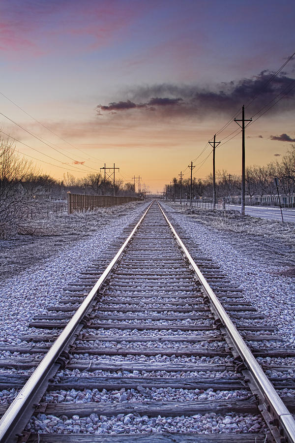 Train Tracks And Color Photograph  - Train Tracks And Color Fine Art Print