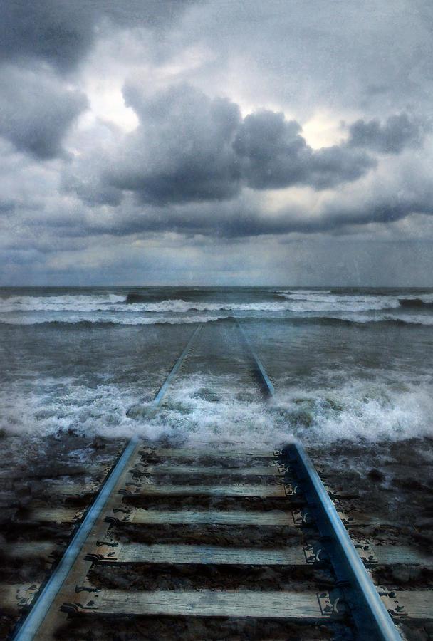 Train Tracks Into The Sea Photograph By Jill Battaglia