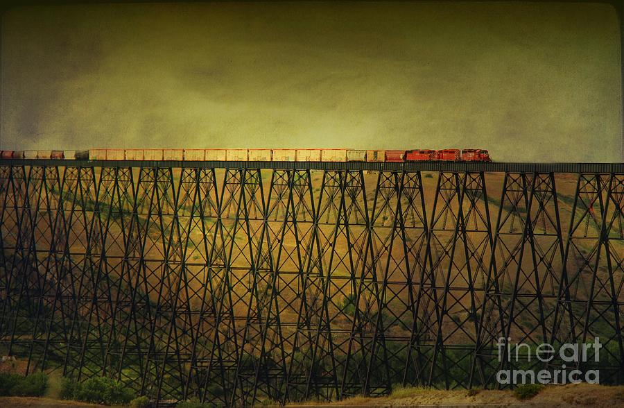 Train Tresle In Lethbridge Photograph  - Train Tresle In Lethbridge Fine Art Print