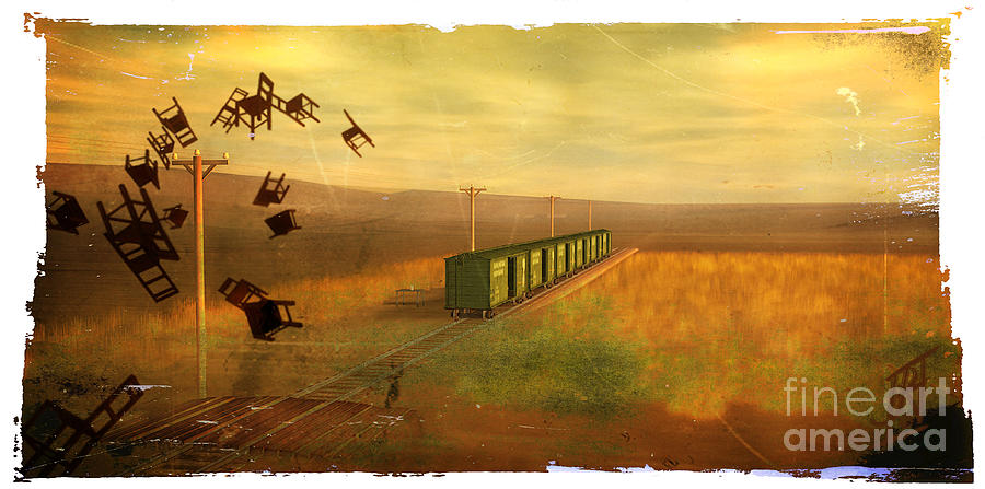Train Unexplained Digital Art