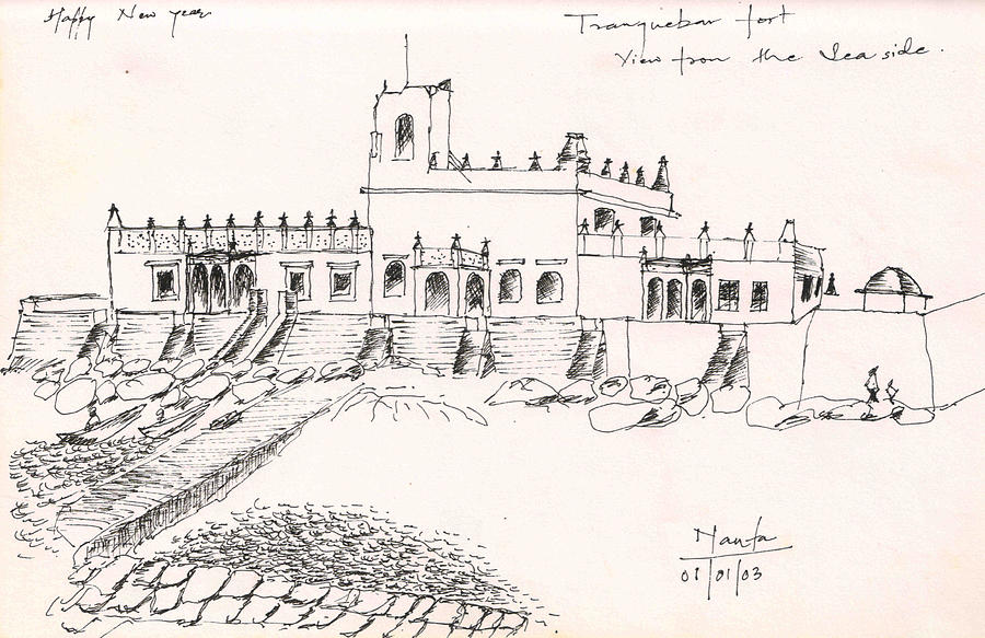 Tranquebar Fort Drawing