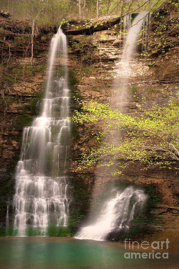 Tranquil Falls In Vertical Photograph  - Tranquil Falls In Vertical Fine Art Print