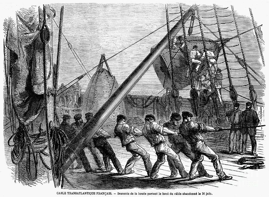 Trans-atlantic Cable, 1869 Photograph