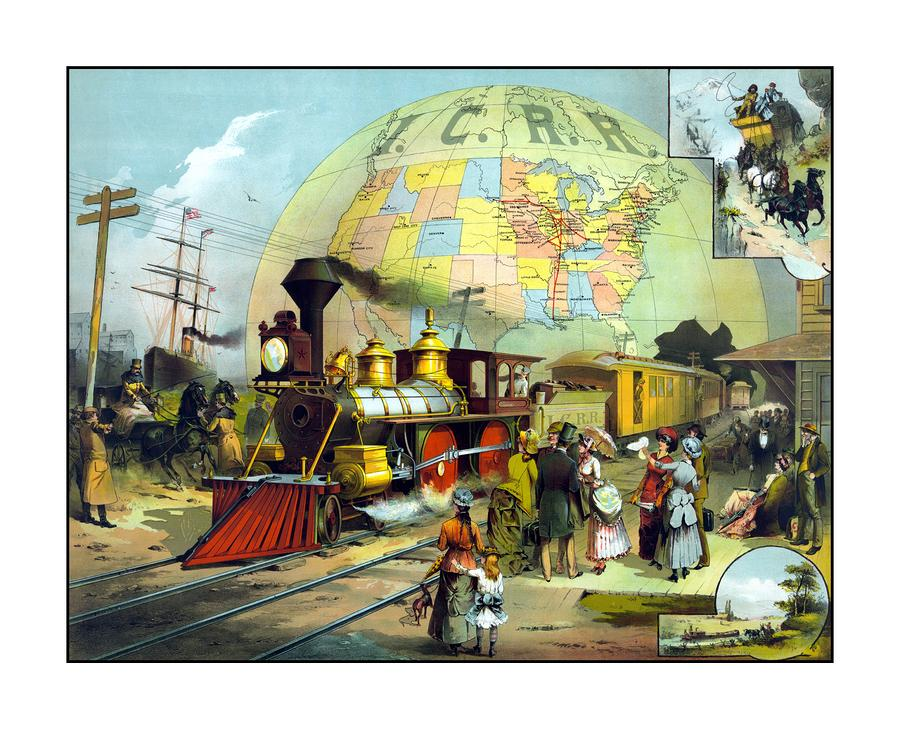 Transcontinental Railroad Painting