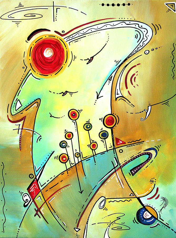 Traveling Band Original Painting Madart Painting  - Traveling Band Original Painting Madart Fine Art Print
