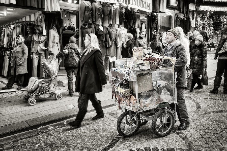 Traveling Vendor Photograph  - Traveling Vendor Fine Art Print