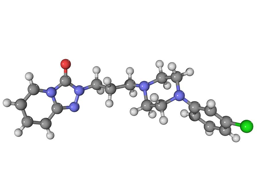 Trazadone Antidepressant Drug Molecule Photograph