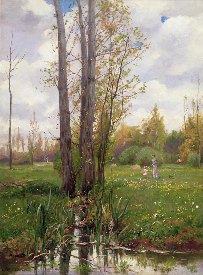 Tree Beside Water  Painting