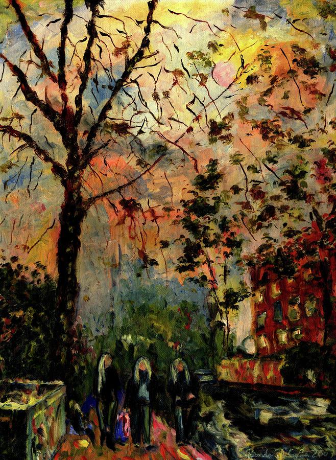Tree Girls On Alton Road Painting